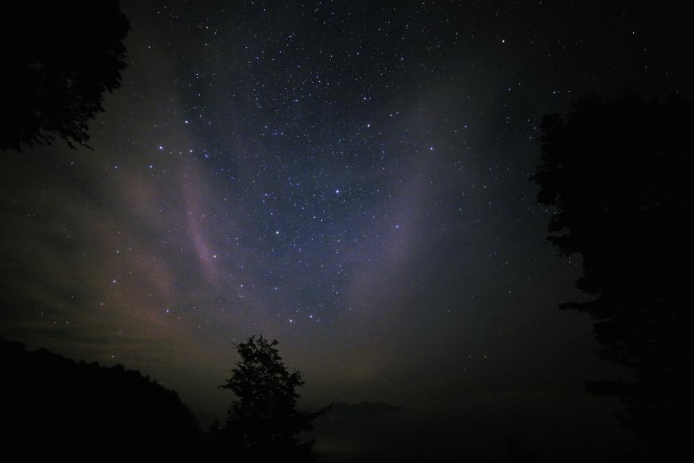白峰西山の星空