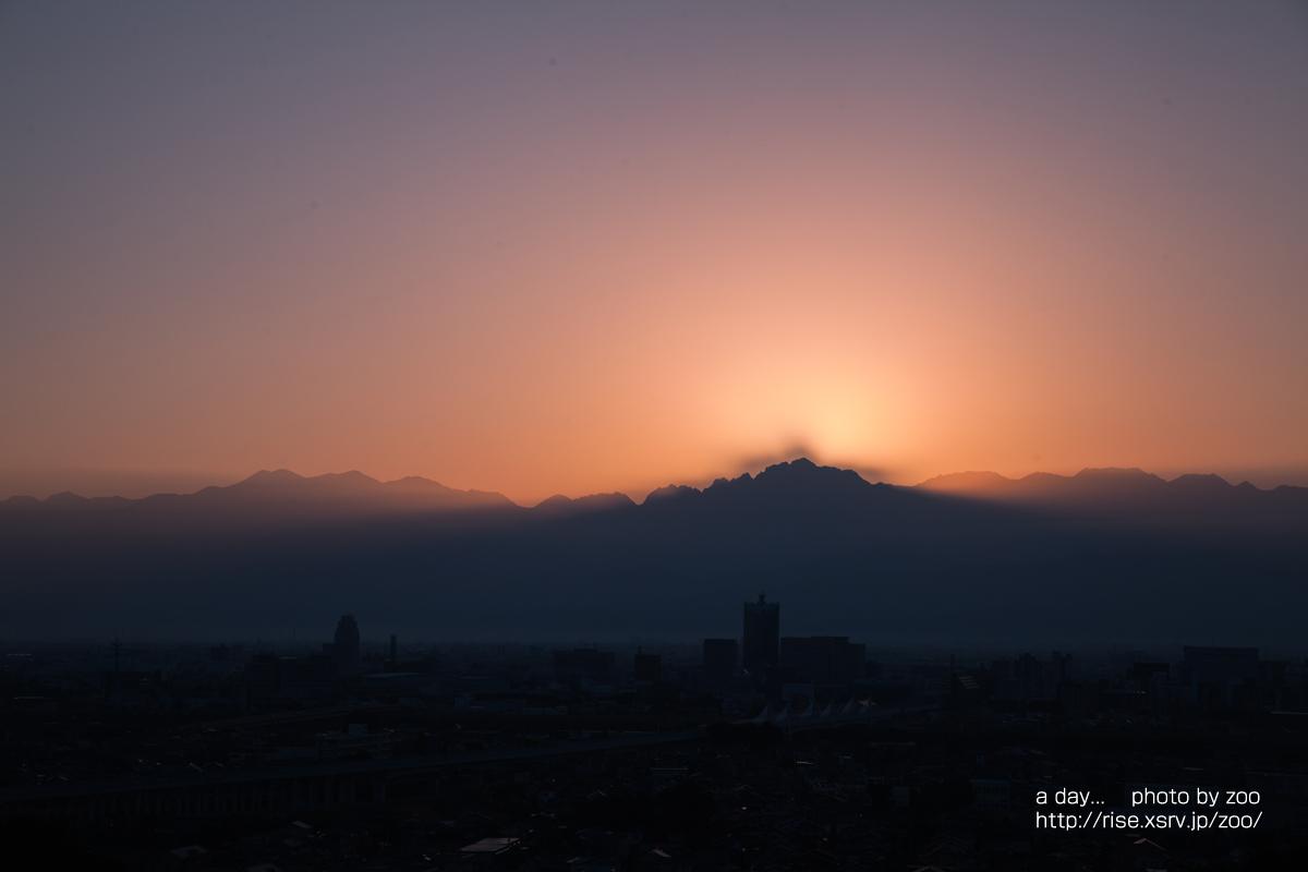 呉羽山展望台からの日の出
