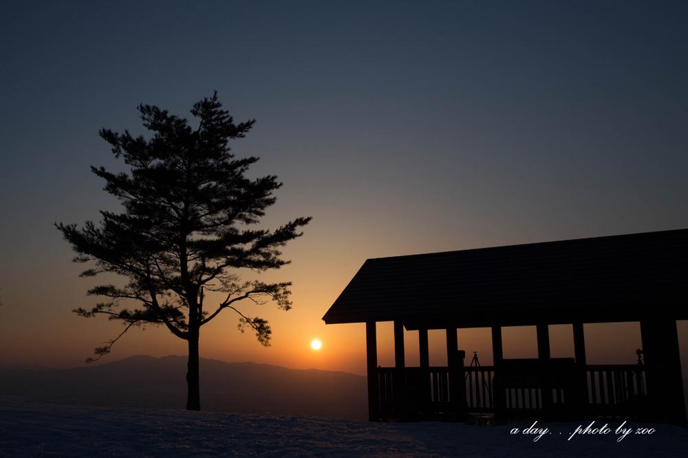 冬の散居村