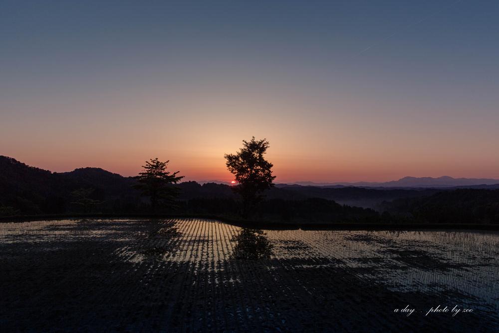 星峠の日の出